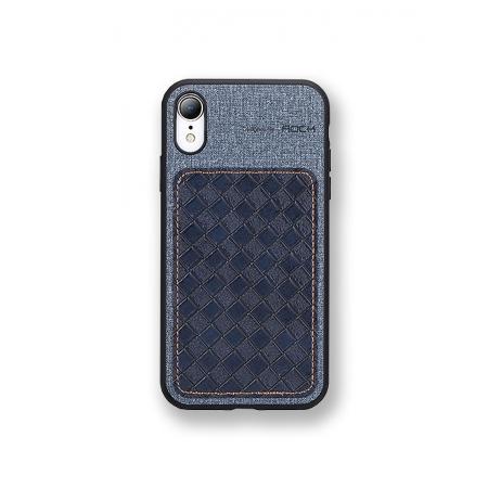 Чехол накладка Rock Origin Series для Apple iPhone XR, темно-голубой