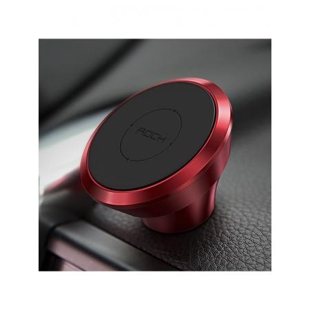 Автомобильный магнитный держатель для смартфонов на торпеду Magnetic Dashboard Car Mount, красный