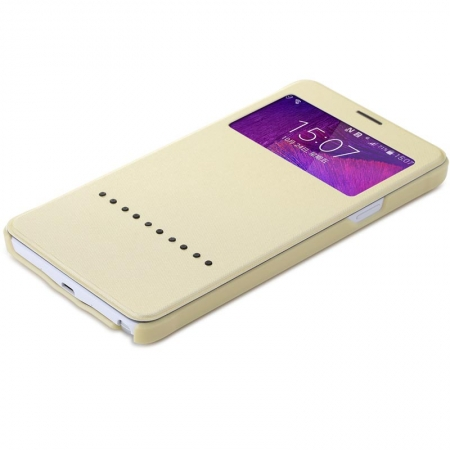 Чехол книжка Rock Rapid Series для Samsung Galaxy Note 4 - золотистый