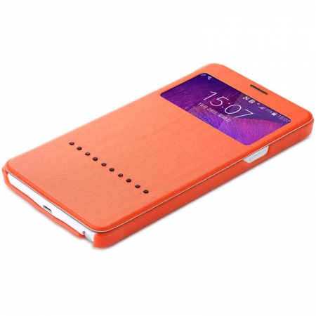 Чехол книжка Rock Rapid Series для Samsung Galaxy Note 4 - оранжевый