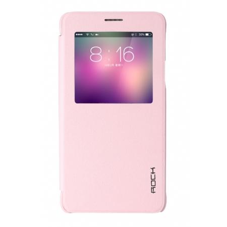 Чехол Rock Uni Series для Samsung Galaxy Note 4 - розовый