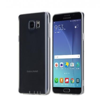 Силиконовый чехол Rock Slim Jacket для Samsung Galaxy Note 5 - прозрачно-черный
