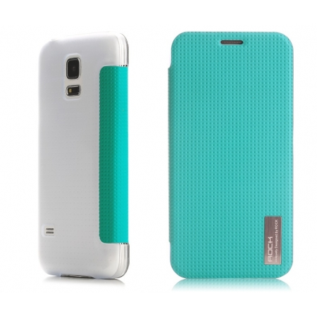 Чехол ROCK Elegant Series для Samsung Galaxy S5 Mini - лазурный