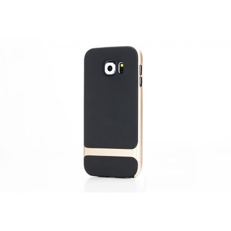 Силиконовый чехол Rock Royce Series для Samsung Galaxy S6 - черно-золотистый
