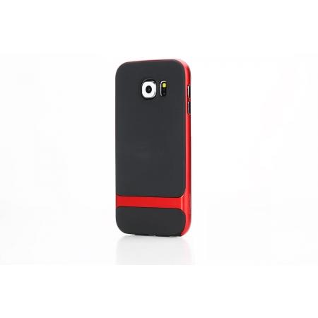 Силиконовый чехол Rock Royce Series для Samsung Galaxy S6 - черно-красный