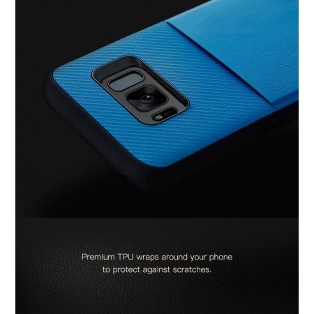 Чехол накладка TPU-PC Rock Space Cana для Samsung Galaxy S8 Plus Синий