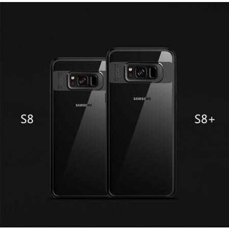 Двухкомпонентный силиконовый TPU-PC чехол Rock Clarity Series для Samsung Galaxy S8 Plus - черный