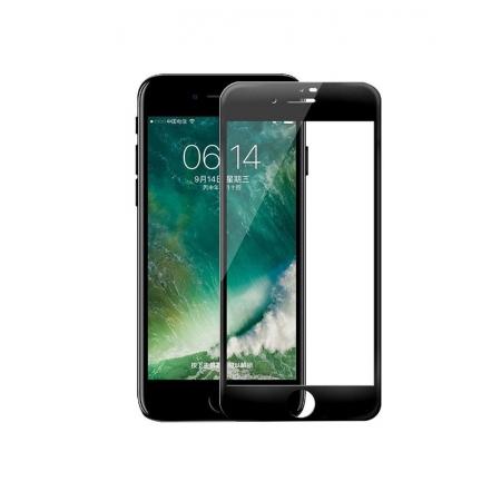 Стекло защитное на экран 3D Curved Tempered Glass Screen Protector с мягкими краями 0.23 мм для iPhone 7/8, черный
