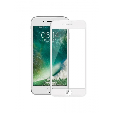 Стекло защитное на экран 3D Curved Tempered Glass Screen Protector с мягкими краями 0.23 мм для iPhone 7/8, белое