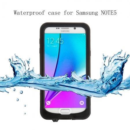 Водонепроницаемый, противоударный чехол Redpepper Waterproof Case для Samsung Galaxy Note 5 - чёрный
