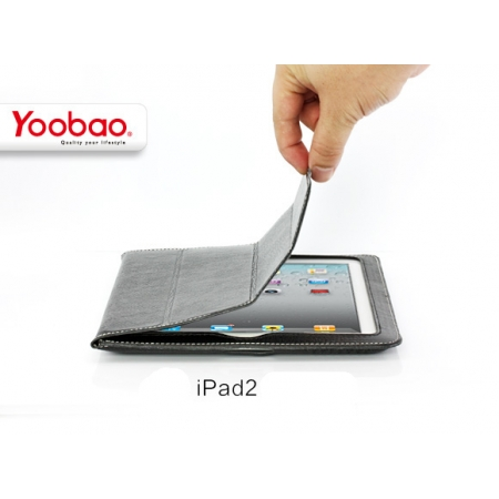 Кожаный чехол Yoobao Smart Leather Case для Apple iPad 2 / iPad 3 / iPad 4 - чёрный