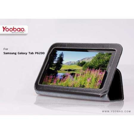 """Кожаный чехол Yoobao Leather Case для Samsung Galaxy Tab 7.0"""" Plus / P6210 / P6200 - чёрный"""