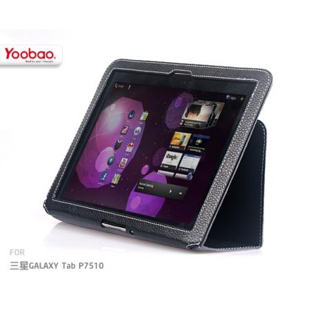 """Кожаный чехол Yoobao Leather Case EBK для Samsung Galaxy Tab 10.1"""" P7500 / P7510 - чёрный"""