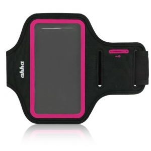 Спортивный чехол на руку Ahha Fitness Armband Tyler 162A 162 х 88 х 10 - черно-розовый