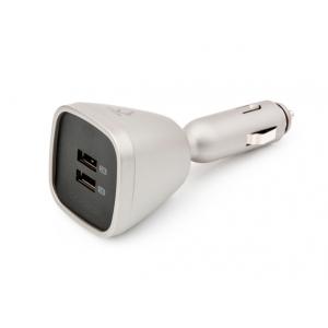Автомобильное зарядное устройство с двумя USB выходами CAPDASE Dual USB Car Charger Joystick Titanium
