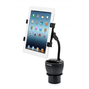 Автомобильный держатель универсальный CAPDASE в подстаканник с з/у Car Charger Cup Holder для планшетов