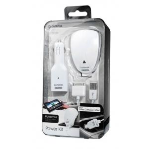 Комплект для зарядки устройств Apple(сетевое + автомобильное з/у) - CAPDASE Power Kit Power Plus