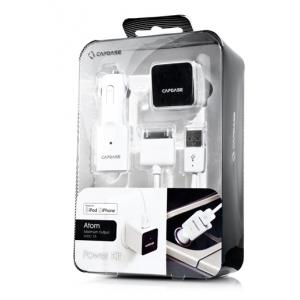 Комплект для зарядки устройств Apple(сетевое + автомобильное з/у) - CAPDASE Power Kit Atom