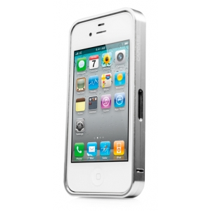 Металлический бампер Capdase Alumor Bumper для Apple iPhone 4/4S - серебристый