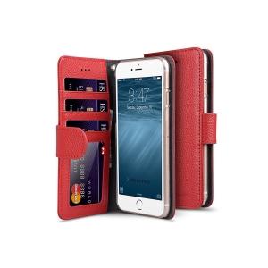 """Кожаный чехол книжка Melkco для iPhone 6/6S (4.7"""") - Wallet Book ID Card Slot - красный"""