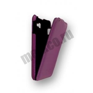 Кожаный чехол Melkco Leather Case для Samsung Galaxy Note GT-N7000 / Note LTE GT-N7005 - Jacka Type - сиреневый
