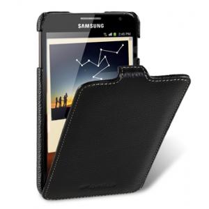 Кожаный чехол Melkco для Samsung Galaxy Note GT-N7000 / Note LTE GT-N7005 - Jacka Type - чёрный