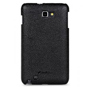 Кожаный чехол Melkco Leather Case для Samsung Galaxy Note GT-N7000 / Note LTE GT-N7005 - Snap Cover - чёрный