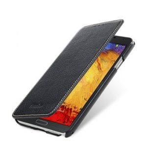 Кожаный чехол Melkco для Samsung Galaxy Note 3 SM-N900 - Face Cover Book - черный