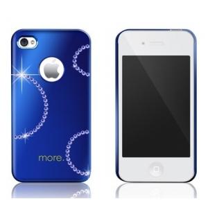 Панель More Noel Collection (Lumina Series) для iPhone 4/4S украшенная кристаллами от SWAROVSKI® - синяя