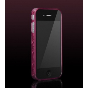 Бампер More Trinity Polymer Jelly Ring для iPhone 4 - бордовый