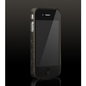 Бампер More Trinity Polymer Jelly Ring для iPhone 4 - темно-серый