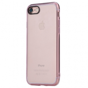 Силиконовый TPU чехол Rock Pure Series для Apple iPhone 8/7 - прозрачно-розовый