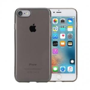 Силиконовый TPU чехол Rock Slim Jacket для Apple iPhone 8/7 - прозрачно-чёрный