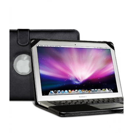 "Кожаный чехол Melkco Leather case для Apple MacBook Air 11.6"" A1370 - Book Type - чёрный"
