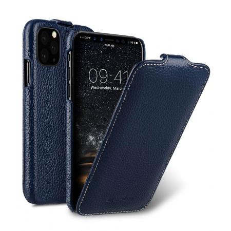 Кожаный чехол флип Melkco для Apple iPhone 11 Pro Max - Jacka Type - темно-синий