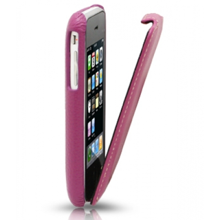 Кожаный чехол Melkco для Apple iPhone 3GS/3G - Jacka Type - сиреневый