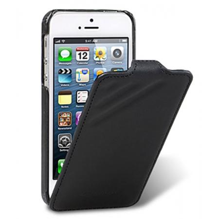 Кожаный чехол Melkco для Apple iPhone 5/5S / iPhone SE - Craft Limited Edition - Prime Dotta - чёрный