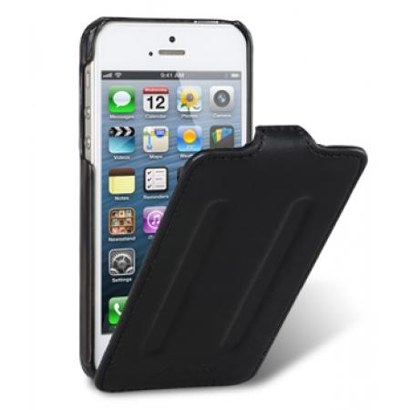 Кожаный чехол Melkco для Apple iPhone 5/5S / iPhone SE - Craft Limited Edition - Prime Twin - чёрный