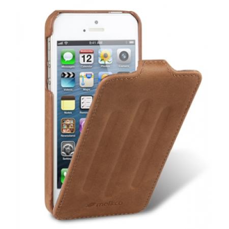 Кожаный чехол Melkco для Apple iPhone 5/5S / iPhone SE - Craft Limited Edition - Prime Verti - коричневый