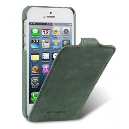 Кожаный чехол Melkco для Apple iPhone 5/5S / iPhone SE - Jacka Type (Classic Vintage Green) - зеленый