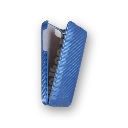 Чехол Melkco для Apple iPhone 5/5S / iPhone SE - Jacka Type (Carbon Fiber Pattern) - синий