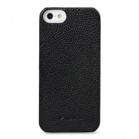 Кожаный чехол - задняя крышка Melkco для Apple iPhone 5/5S / iPhone SE - Snap Cover - черный