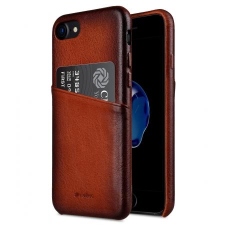 Кожаный чехол накладка Melkco Elite Series для iPhone 8/7 - Snap Back Pocket (Tan) - коричневый