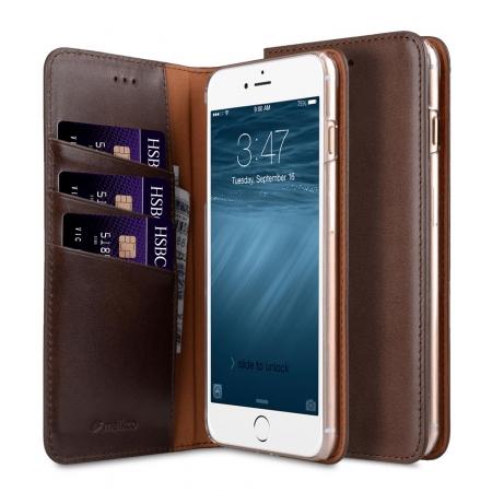 "Кожаный чехол книжка Melkco для iPhone 7/8 (4.7"") - Herman Series Book Style Case - коричневый"