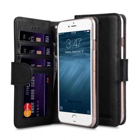 """Кожаный чехол книжка Melkco для iPhone 7/8 (4.7"""") - Wallet Book ID Slot Type Vintage Black - черный"""