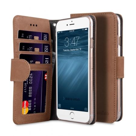 """Кожаный чехол книжка Melkco для iPhone 7/8 (4.7"""") - Wallet Book ID Slot Type (Classic Vintage Brown) - коричневый"""