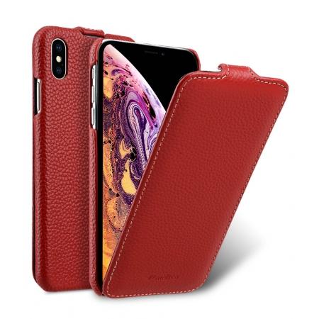 """Кожаный чехол Melkco для Apple iPhone Xs Max 6.5"""" - Jacka Type - красный"""