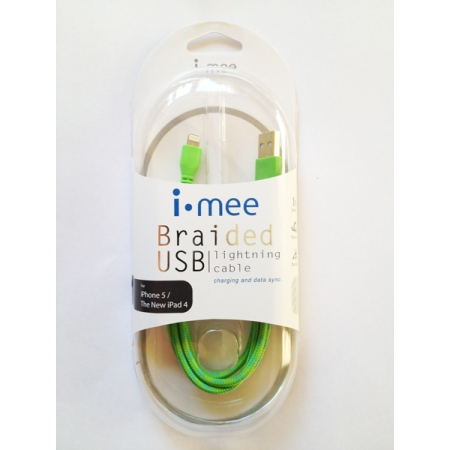 Кабель i-Mee Lightning Cables для Apple iPhone 5/5S/5C/New iPad 4 - зеленый