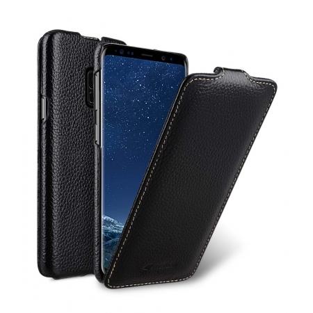 Кожаный чехол флип Melkco для Samsung Galaxy S9 - Jacka Type - черный