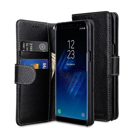 Кожаный чехол Melkco для Samsung Galaxy S8 - Wallet Book Type - черный